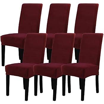Amazon Com Mecerock Velvet Stretch Dining Room Chair