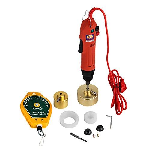 (Mophorn Electric Bottle Capping Machine Handheld 80W 110V Manual Electric Cap Sealer Sealing Machine 10-50mm Capping Diameter Bottle Capper Sealer Screwing Sealing Machine (110V))