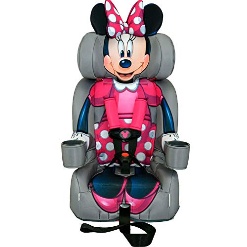 KidsEmbrace 2-in-1 Harness Booster Car Seat, Disney Minnie Mouse (Best Sippy Cups For Toddlers 2019)