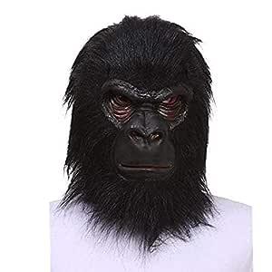 Mascara Máscara de Gorila Negro de látex de Halloween Máscara de ...