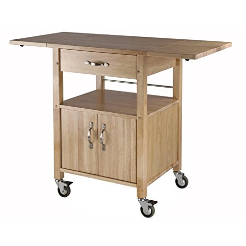 Liquid Pack Solutions Bring Function and Flair To Your Kitchen With 1 Drawer & Cabinet & Lower Shelf For Storage Made of Butcher Block & Beechwood & Plywood Includes 2 -