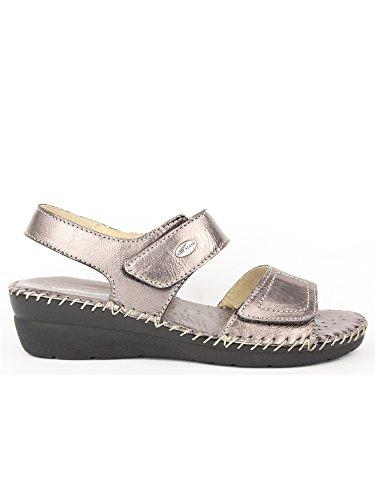 GRUNLAND - Sandalias de vestir para mujer Peltro