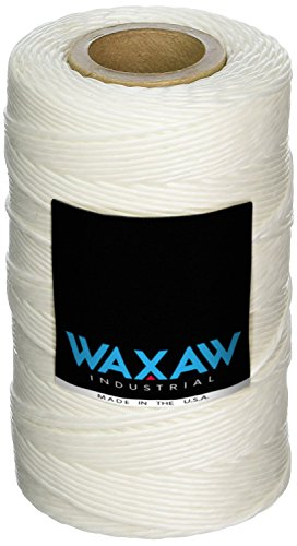 335 Yards of 9-ply Waxed 100% Polyester Natural Color Cable Lacing Twine/Cord: Cable Tie Down | 115-Pound Loop Strength Waxed Cable Lacing Per 8 oz. Spool | Tensile Strength: 115 | Made in the USA (Natural Cotton Twist Rope)