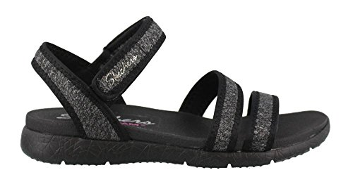 Skechers Cali Women's Microburst Pure Chill Flat Sandal,Black,7 M US by Skechers