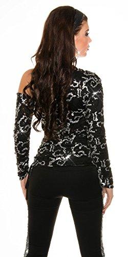 In-Stylefashion - Camiseta de manga larga - para mujer negro