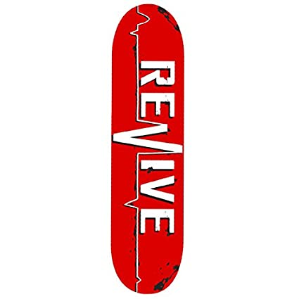 d657d3bf Amazon.com : Revive Red Lifeline Skateboard Deck (8.25) : Sports ...