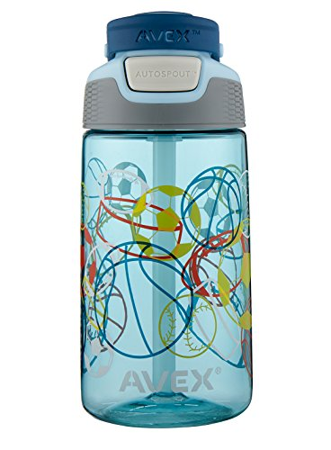 AVEX Kids Freestyle Multi Sport Autospout Water Bottle, Powder Blue, 16 oz