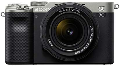 41AoQql%2BOrL. AC  - Sony Alpha 7C Full-Frame Compact Mirrorless Camera Kit - Silver (ILCE7CL/S)