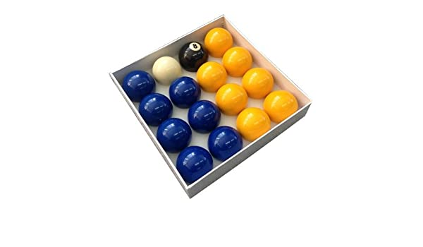 Competition English Pool Balls - 2 Blues and Yellows by Competition: Amazon.es: Deportes y aire libre