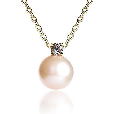 Perle Anhänger Schmuck Perlmutt Anhänger Halskette Mädchen Geburtstagsgeschenke Natürlichen Süßwasser-perle Anhänger Silber 925 Kette