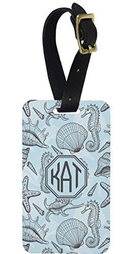 Sea-blue Seashells Aluminum Luggage Tag (Personalized)