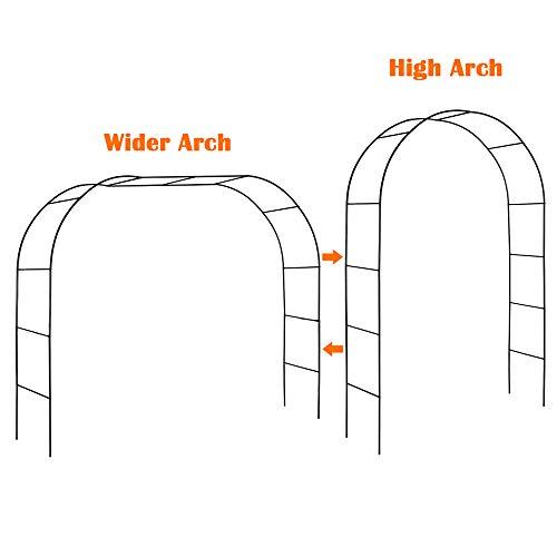 Mr. Ton Garden Arch, Wedding Arch, Garden Arbor Pergola for Indoor/Outdoor Lawn Garden Various Climbing Plants, 7