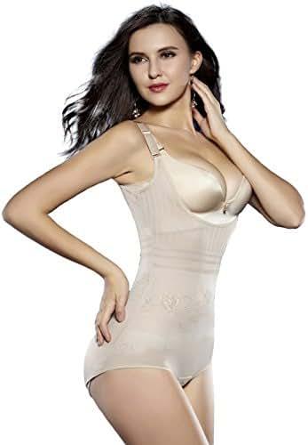 Sunzel Women's Body Briefer Smooth Wear - Your Own Bra Slimmer Shapewear Bodysuits