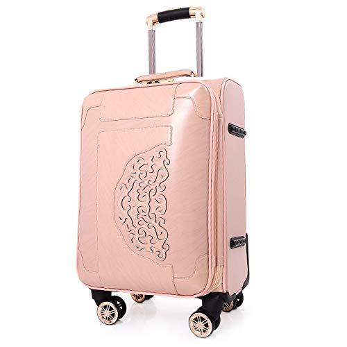 車輪が付いているPUの荷物の女性のトロリースーツケース20