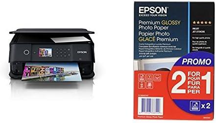 Epson Expression Premium XP-6000 - Impresora multifunción Wi-Fi, color negro + Papel fotográfico Premium Glossy, 10 x 15 cm, 2 x 40 hojas, 255 g - ...