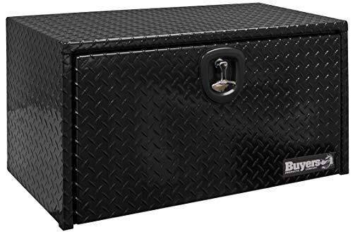 - Buyers Products 1725100 Black Powder Coated 18 x 18 x 24 in. Diamond Tread Aluminum Truck Box