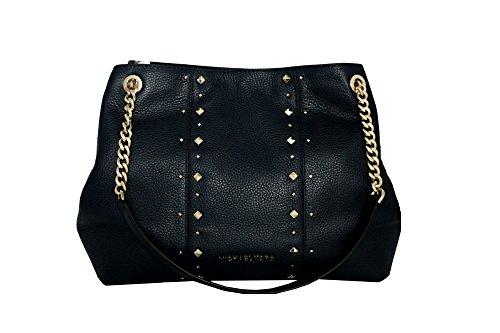 MICHAEL Michael Kors Women's Jet Set Item Large Shoulder STUDDED Leather Handbag (Black) by MICHAEL Michael Kors