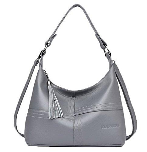 Aalardom Casual Pants Fashion Women Pu Handbags Strip Crossed, Tsmbh180920 Grisclaro