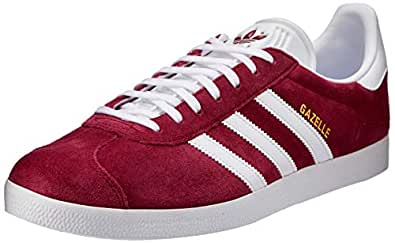 adidas Men's Gazelle Trainers Shoes, Collegiate Burgundy/Footwear White/Footwear White, 4 US (4 AU)