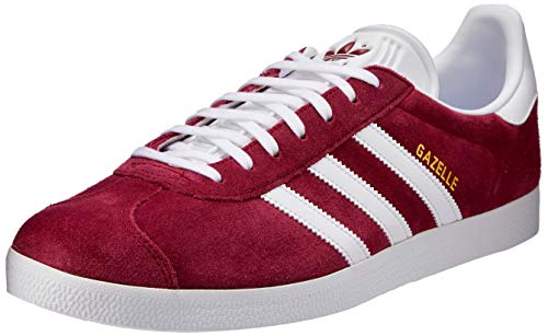 adidas Mens Gazelle Suede Burgundy White Trainers 9.5 US ()