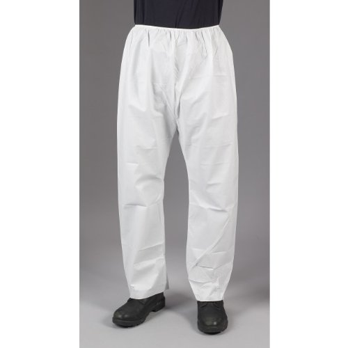 Lakeland MicroMax NS Microporous General Purpose Pant with Elastic Waist, Disposable, Large, White (Case of 50) by Lakeland Industries Inc