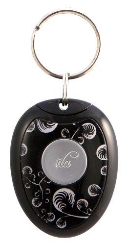 ila Pebble - Der Schlüsselanhänger mit sehr lauter Alarmfunktion 130 dB (Schwarz)