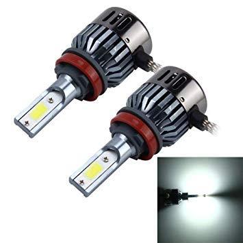 Uniqus 2 PCS H8 H11 32W 2800 LM 6000K Car Auto LED Headlight with 2 COB LED Lamps, DC 9-18V(White Light)