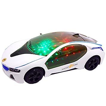 Multifunction 3D Light Music Sports Car Stylish Style Electric Toy with Wheel D Batteriebetriebene Fahrzeuge