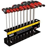 Klein Tools JTH610E SAE Journeyman T-Handle Set with Stand, 10-Piece