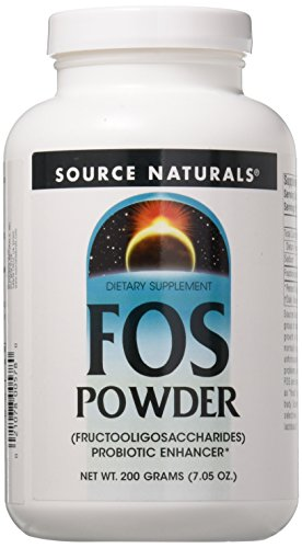 Source Naturals FOS Fructooligosaccharides Powder, Probiotic Enhancer, 7.05 Ounces