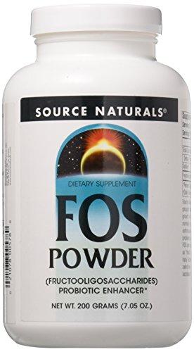 Source Naturals FOS Fructooligosaccharides Powder, Probiotic Enhancer, 7.05 Ounces