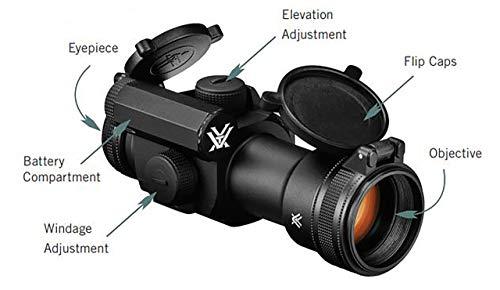 Vortex Optics Strikefire II Red Dot Sight - 4 MOA Red/Green Dot with Vortex Hat by Vortex Optics (Image #4)