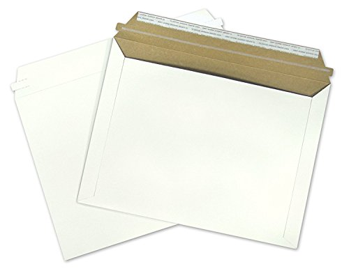 Nice 12.5x9.5 Rigid 12.5 x 9.5 Fiberboard Document Mailing Envelopes Photo Mailers 9.5x12.5, ( 250 ) By ValueMailers for sale