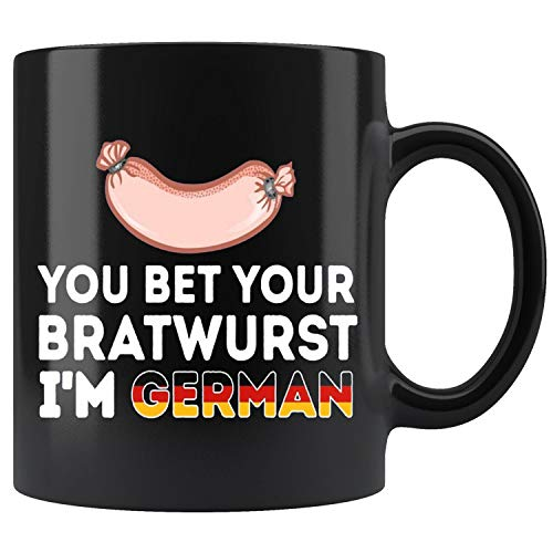 (German Sausage - You Bet Your Bratwurst Im German Mug Coffee Mug 11oz Gift Tea Cups)