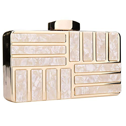 Perspex Clutches Acrylic Handbags Bag Pearl Champagne Bags Purse Floral Beaded Women Clutch wqxRIvq7