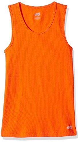 (Soffe Girls' Big Basic Tank, Orange,)