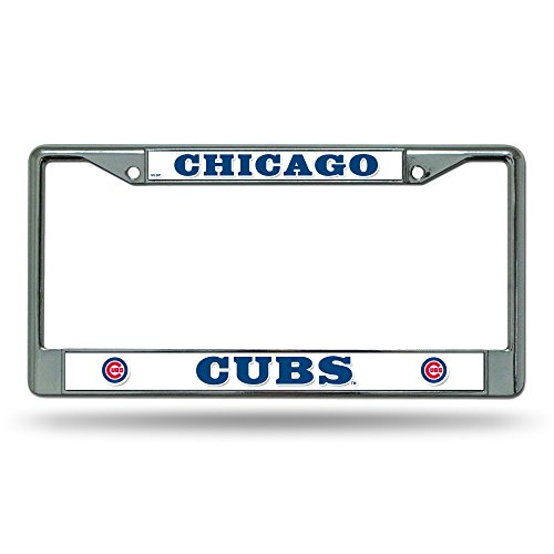 MLB Chicago Cubs Chrome License Plate Frame