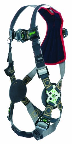 (Miller RKNAR-QC/UBK Revolution Arc Rated Harness with Kevlar-Nomex Webbing and Quick-Connect Leg Buckles, Black, Universal Size (Large/XL) )