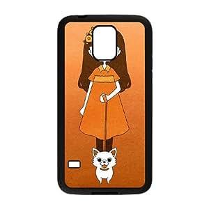 Chihuahua Funda Samsung Galaxy S5 Funda Caja del teléfono celular Negro S4V7DL