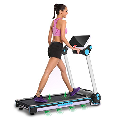 Garain S6400 Folding Electric Treadmill, Bluetooth App Control Touch Screen Exercise Equipment Walking Running Machine Home Fitness Treadmills (US STOCK) by Garain (Image #6)