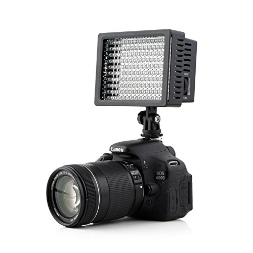 Lightdow LD-160 Ultra High Power Dimmable 160 LED Bulb Video Light for Canon Nikon Sony DSLR Camera