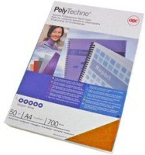 GBC PolyTechno Cover Ice Orange (50) Orange Cover Binding–Binding Covers (Orange, 302mm, 213mm, 7mm) 302mm 213mm 7mm) IB387234