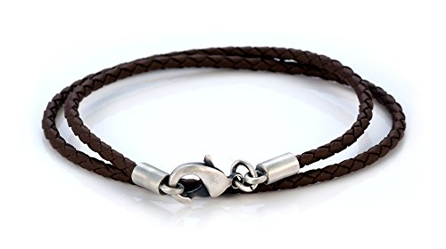 Bico 3mm (0.12 inch) Brown Braided Necklace 20 inch Long (CL13 Brown 20in)