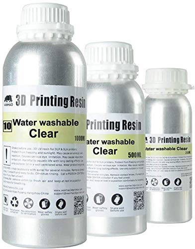 Wanhao UV Cure 3D Printer Water Washable Resin (Clear)