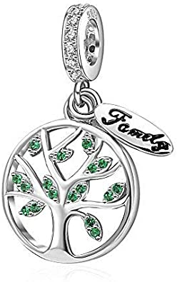 Christmas Tree of Life Charms Original 925 Sterling Silver New Family Tree Charms Fits European Snake Chain Bracelet