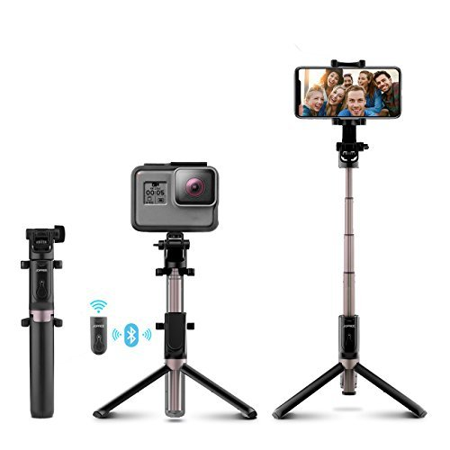 Selfie Stick, Jopree Bluetooth Selfie Stick with Wireless Remote Shutter, 4 in 1 Mini Pocket 360 Degree Rotation Extendable Tripod Aluminum Alloy for Gopro iPhone/Samsung/Android/Other Smart phone &T by JOPREE