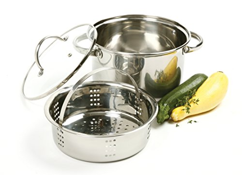 Norpro 4 Quart Steamer/Cooker Set 3pc, Stainless Steel