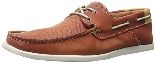 Kenneth Cole New York Men's New Era Boat Shoe, Brick, 9 M US