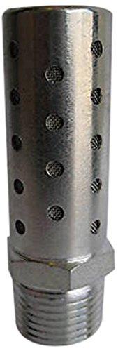 MettleAir SHF-N08 Pneumatic High Flow Silencer, Stainless Steel, 1'' NPT (Pack of 10) by MettleAir