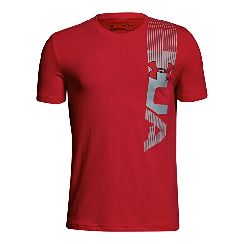 Under Armour Boys' One Sided T-Shirt, Red (600)/Black, Youth Large